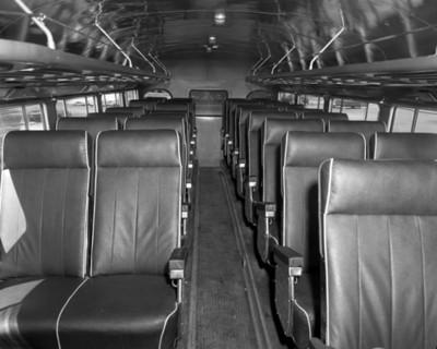 Interior de un auatobús de la parte de los pasajeros