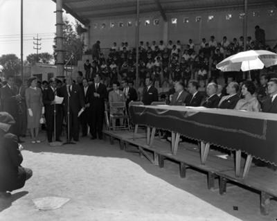 Eva María Samano durante acto público