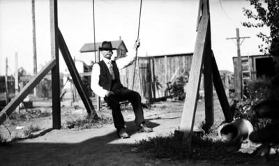 Winfield Scott sentado en columpio, retrato