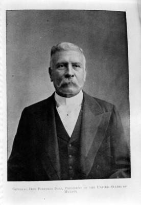 """""""Gral Don Porfirio Diaz President of the United states of México"""", retrato"""