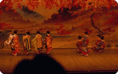 Geishas realizan baile regional