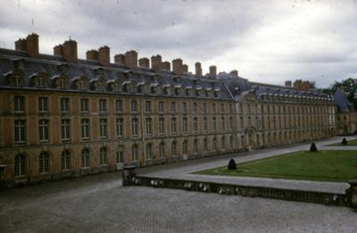 Palacio de Fontainebleau, exterior, vista lateral