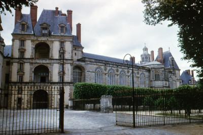 Palacio de Fontainebleau, entrada principal y fachada
