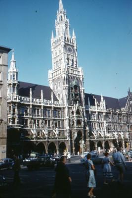 Vista del Ayuntamiento de Munich