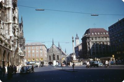 Vista de calle en el Ayuntamiento de Munich