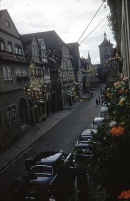 Calles de Koboldzellersteig y Spittalgasse en Rothenburg
