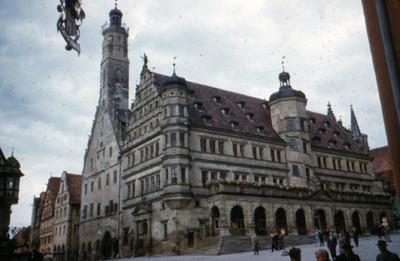 Vista parcial del Ayuntamiento de Rothenburg