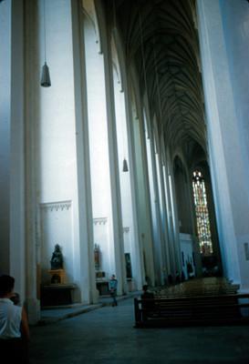Boveda y vitral de la Catedral de Munich