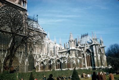 Catedral de Notre-Dame, una de sus fachadas