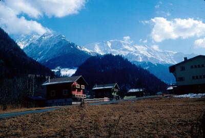 Villa alpina al pie de Mont-Blanc