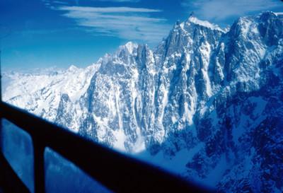 Pico de Mont-Blanc, vista desde el teleferico