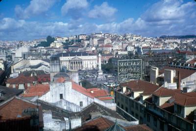 Panoramica de la ciudad de Lisboa con la