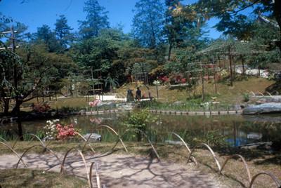 Vista de jardin en el santuario