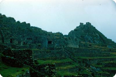 Machu Picchu, zona arqueologica, vista parcial
