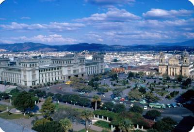 Palacio Nacional y Catedral de Guatemala, panorámica