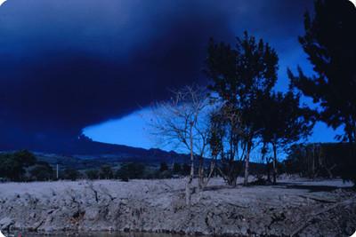 Fumarola del volcan Poas, panorámica