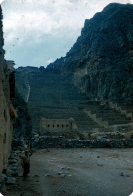 Escalinatas en la zona arqueologica de