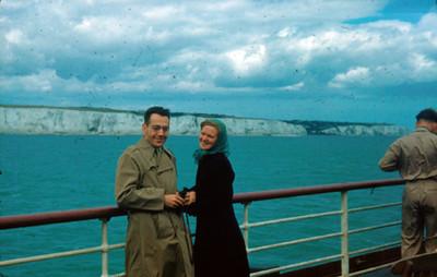 Arsen y Sophie abordo de un barco, retrato