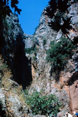 Personas al pie del Monte Parnassus