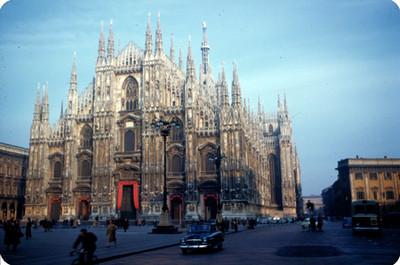 Catedral de Milan o Duomo di Milano, vista de conjunto