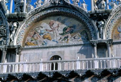 Vista de fresco en la Basilica de San Marcos