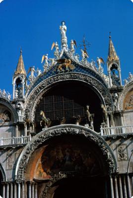 Parte superior del potico central de la Basilica de San Marcos