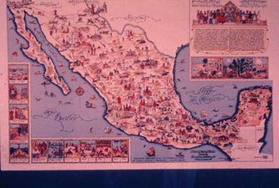 Mapa de la Republica Mexicana, motivos e imagenes