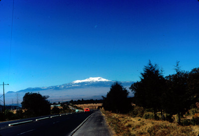 Vista frontal del Nevado de Toluca