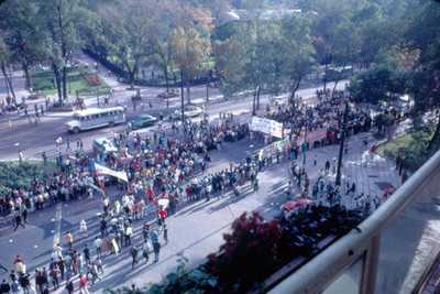 Manifestacion en apoyo al movimiento estudiantil