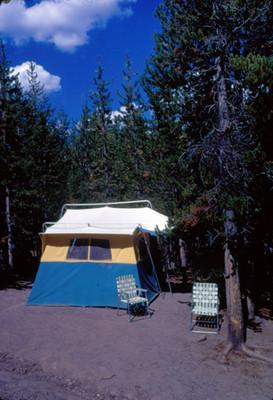 Casa de campaña en la Grand Mesa