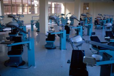 Sillas dentales de un consultorio
