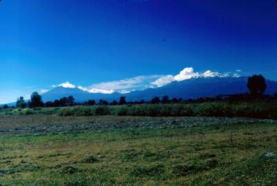 Popocatepetl e Iztaccihuatl, panorámica