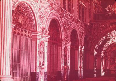 Vista parcial de las capillas laterales del templo de Santo Domingo de Guzman