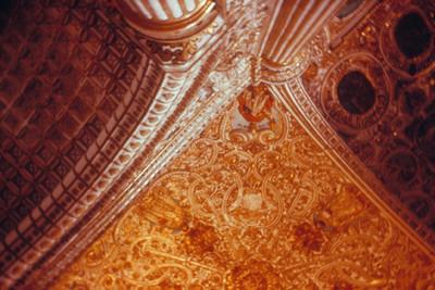 Detalle de la boveda y el crucero del templo de Santo Domingo de Guzman