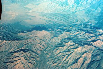 Cordillera montañosa, vista aerea
