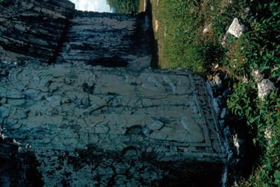 Relieve en estuco en el Templo de las Inscripciones