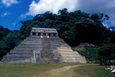 Templo de las Inscripciones, fachada, vista frontal