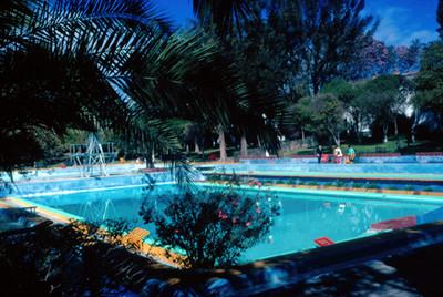 Hotel Peñafiel en Puebla, vista de la alberca