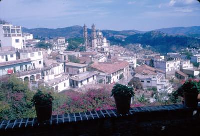 Taxco, vista panorámica del poblado