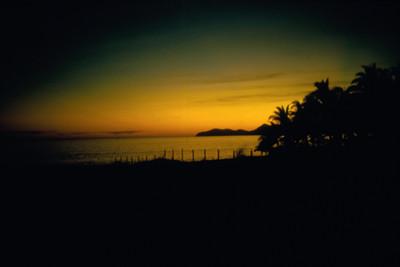 Puesta de sol en la Bahia de Acapulco