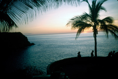 El amanecer en la Bahia de Acapulco