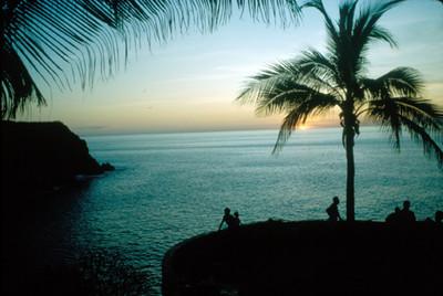 Acapulco, vista del atardecer, paisaje