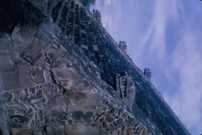 Escalinata del Templo de Quetzalcoatl en La Ciudadela