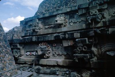 Talud y Tablero del Templo de Quetzalcoatl