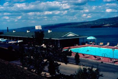 Vista de Motel a la orilla del