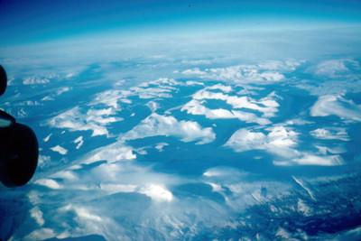 Vista aerea de glaciar