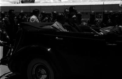 Prio Socarras en compañía del presidente Miguel Alemán durante su visita a la ciudad de México
