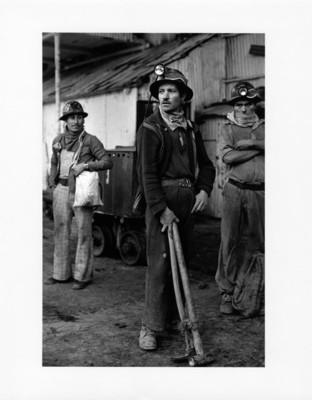 Malacate en el interior de la mina El Alamo