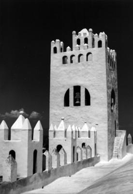 Torres almenadas de la Iglesia de San Nicolás Tolentino
