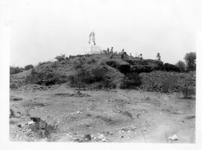Ángulo N.E. de la pirámide antes de la exploración